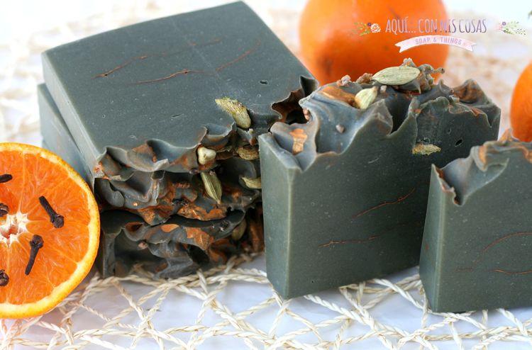 Jabón de aceite de mostaza y naranja